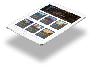 The Algernon CLM website tablet.