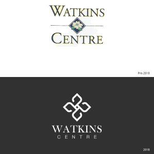 The Algernon Watkins Centre logo redesign 2019.